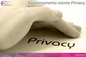 Aggiornamento norme Privacy