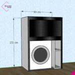 mobile-serrandina-wash-beta-bianco-nero-lucido-bw132-90
