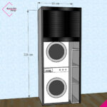 mobile-serrandina-wash-beta-bianco-nero-lucido-bw220-90-a