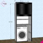 mobile-serrandina-wash-beta-bianco-nero-lucido-bw220-90-b